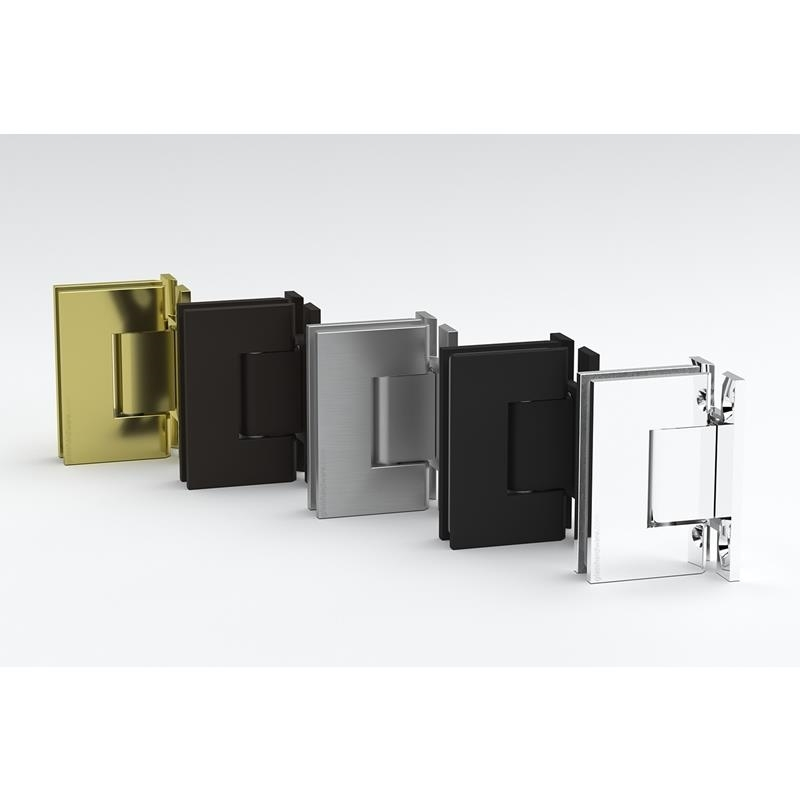 IGT Wall to Glass H Back Plate Hinge 3