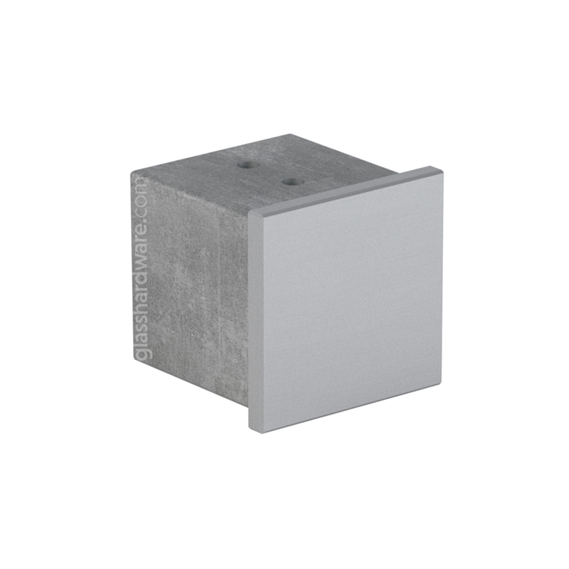 Squared End Cap For Slotted Tube 1-9/16 S.S 316 1
