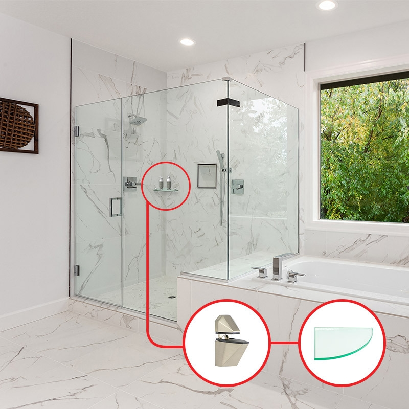combo shower shelfs